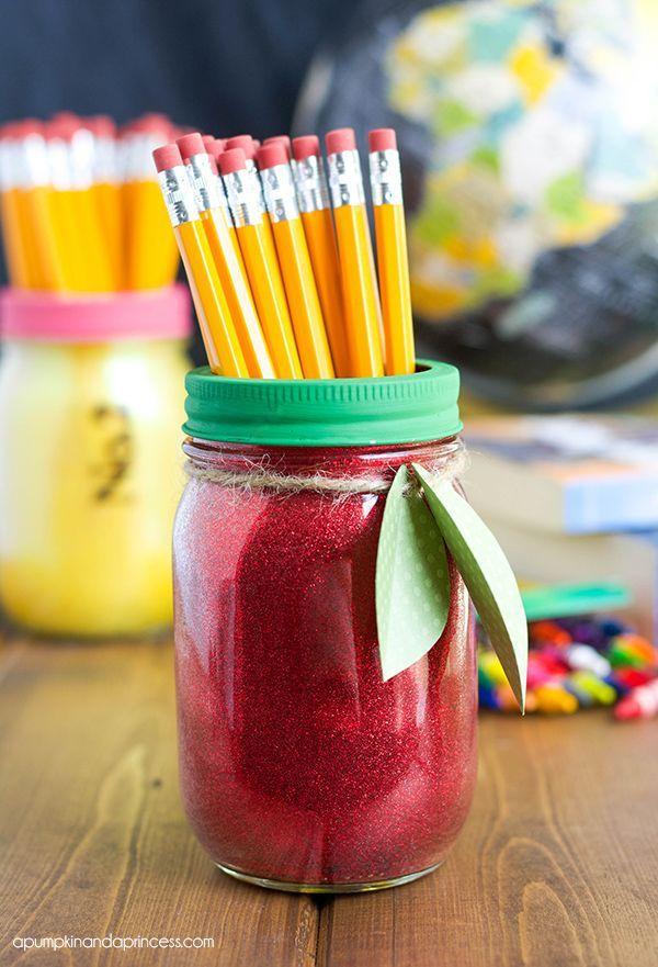 Apple Mason Jar Teacher Gift idea