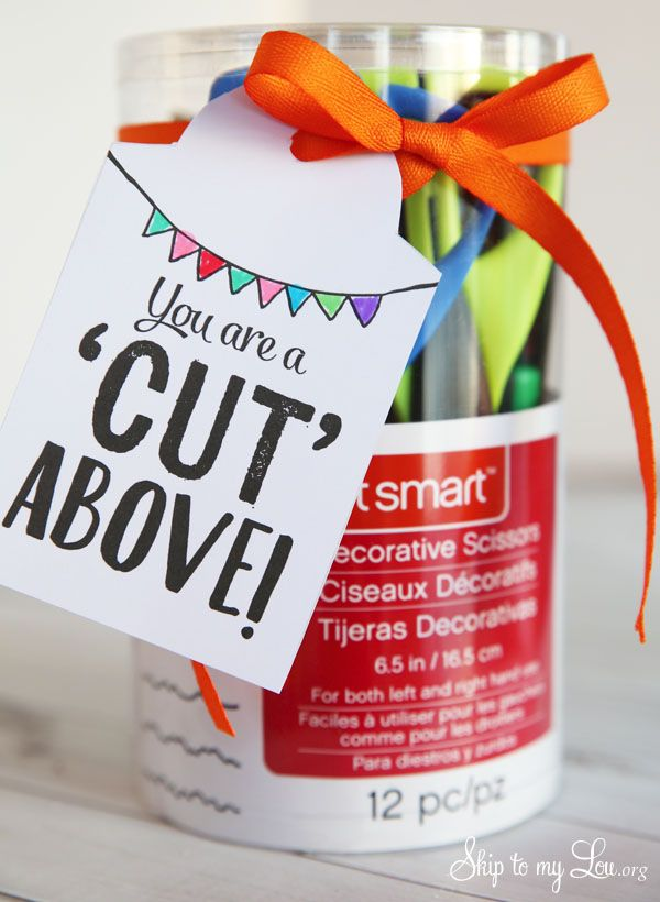 Back to school teacher gift idea: You are a cut above free printable tag #backto...