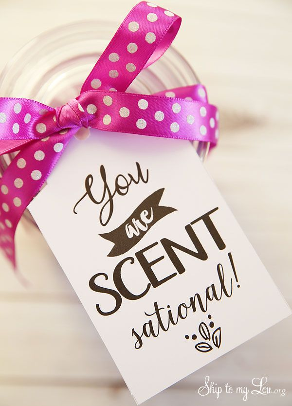 Back to school teacher gift idea: you are scentsational printable tag #backtosch...