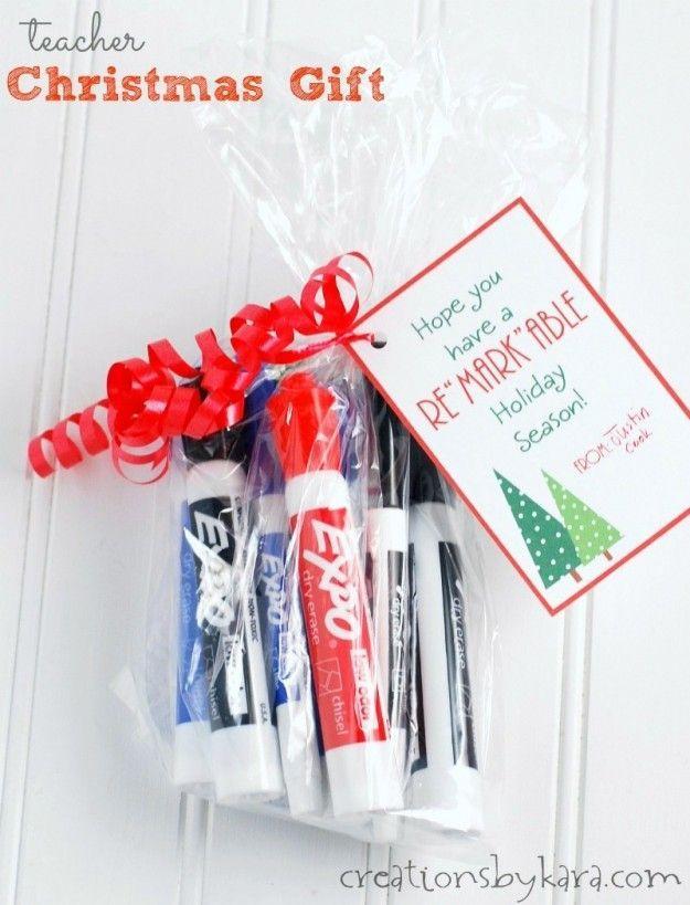Christmas Gift for teachers- dry erase marker set. All teachers love practical g...