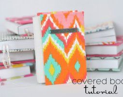 Easy Covered Books Tutorial- a teacher gift idea