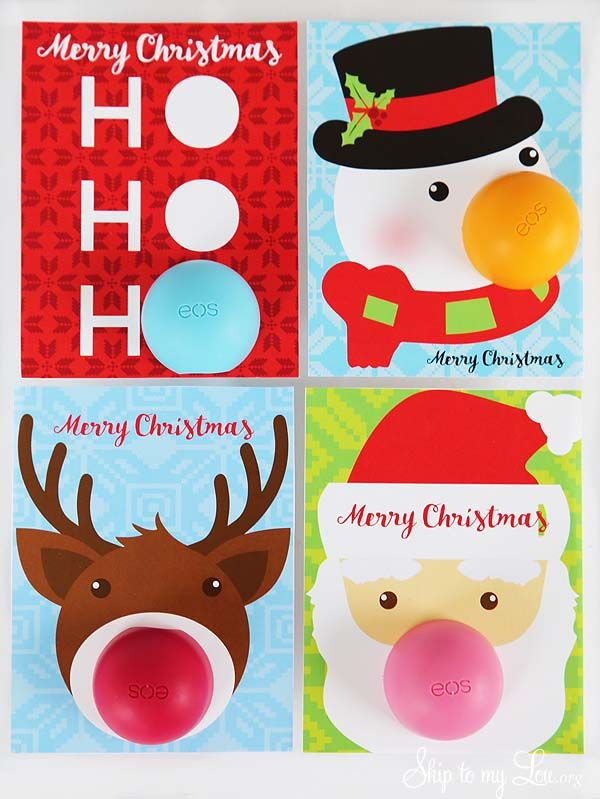 EOS Lip Balm Christmas Gifts! Simply print the free card and attach to your EOS ...