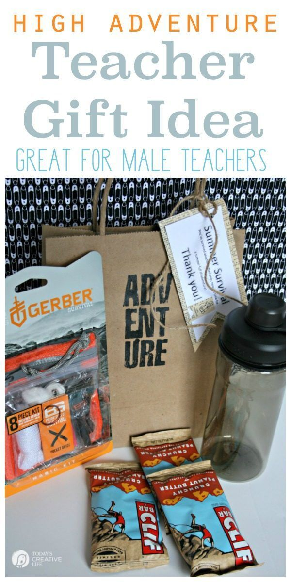Male Teacher Gift - Summer Survival Kit | Put together a great teacher gift for ...