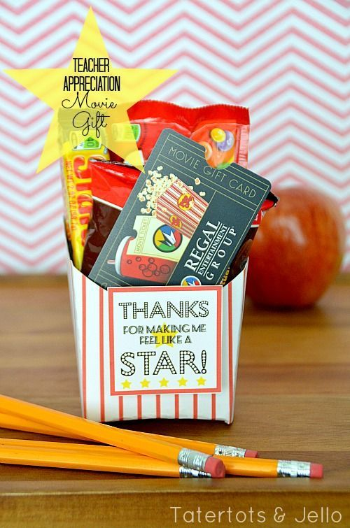 Movie gift idea for a teacher. #backtoschool #teacher