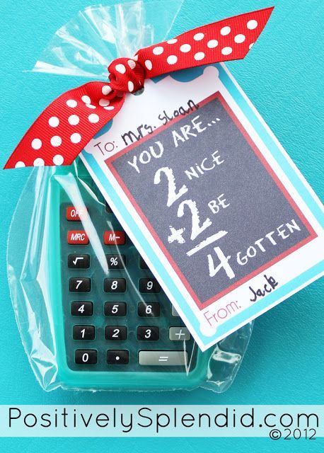 Personalized Calculator with free printable {Teacher Appreciation} | Skip To My ...