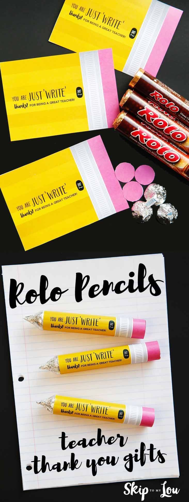 Rolo candy teacher appreciation gift idea! Learn how to make this easy candy pen...