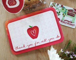 Teacher Appreciation Card and Gift Tag Set