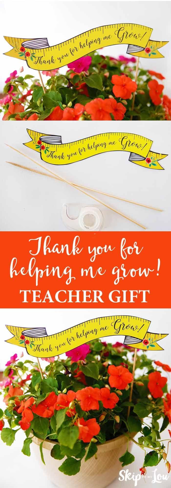 Teacher appreciation gift idea! Free printable