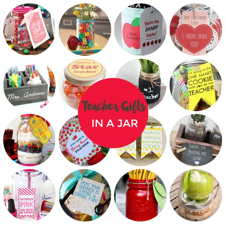 teacher gifts in a jar