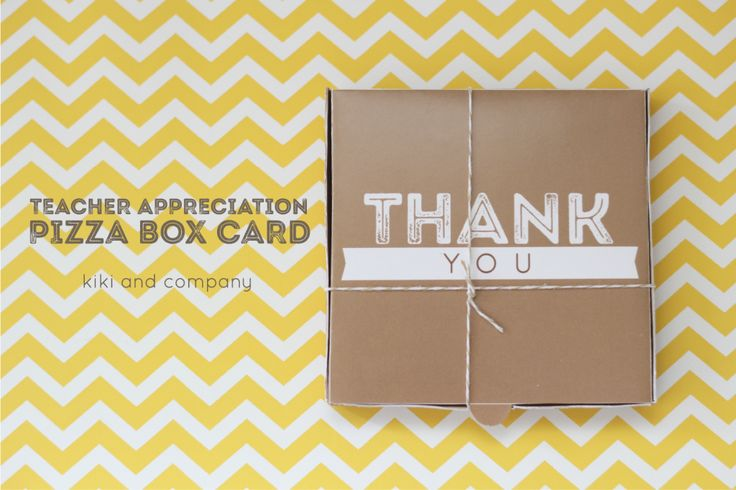 This Teacher Appreciation Pizza Box card is perfect to gift your teacher! I love...