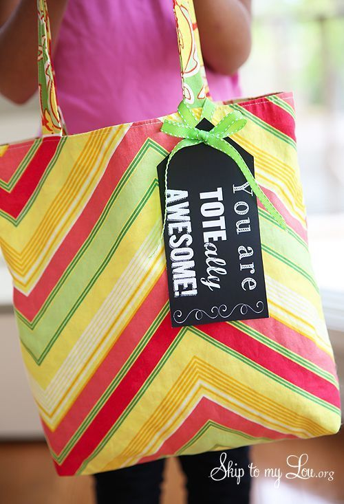 Tote-ally awesome teacher gift idea