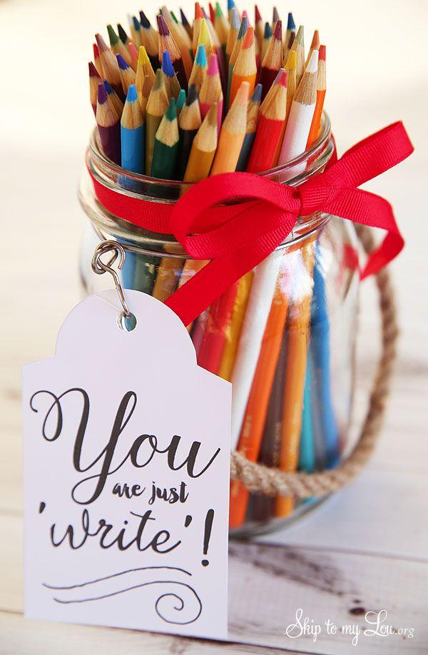Back to school teacher gift idea: free printable