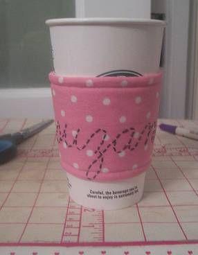 teacher appreciation gift idea: handmade coffee cozy