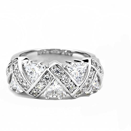 7.3TCW Heart & Round Cut Russian Lab Diamond Anniversary Ring