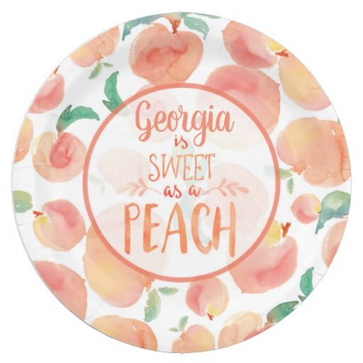Sweet as a Peach Birthday Party Plates