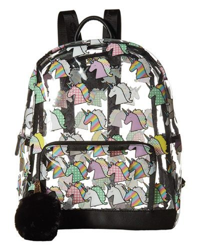 For the unicorn lovers - Luv Betsey Unicorn Clear Backpack
