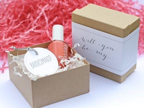 Be My Bridesmaid - Nail Polish Gift. Ask your bridesmaids with a nail polish in ...