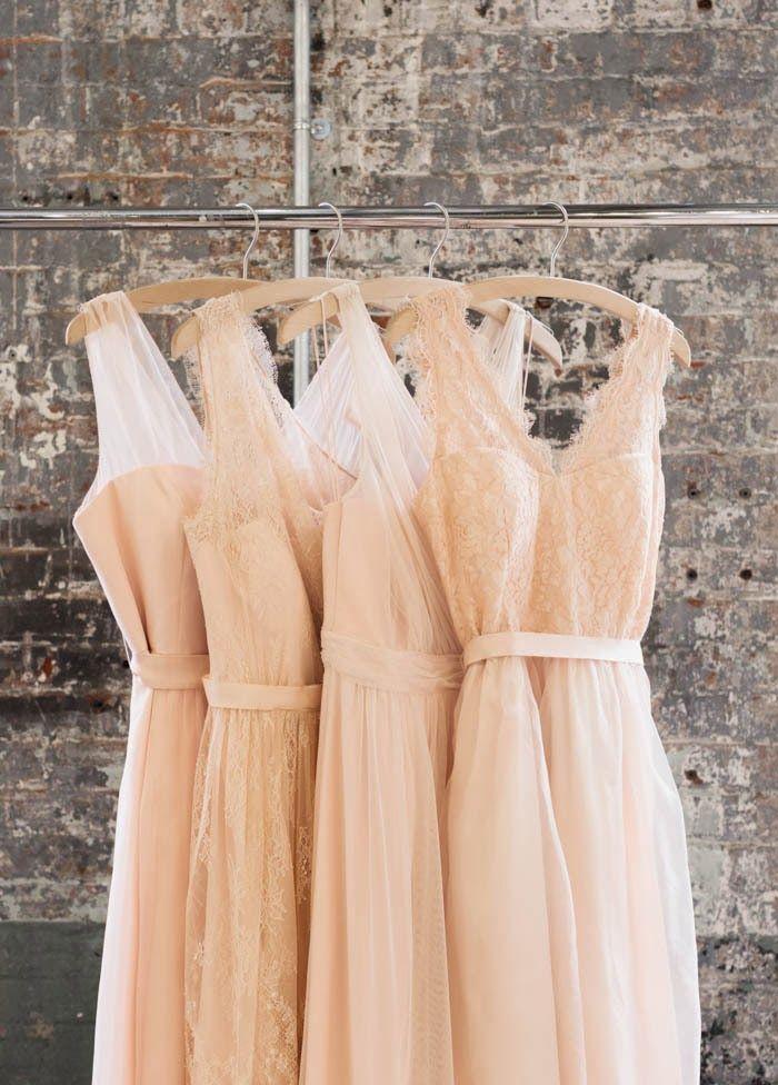 light cream bridesmaid dresses