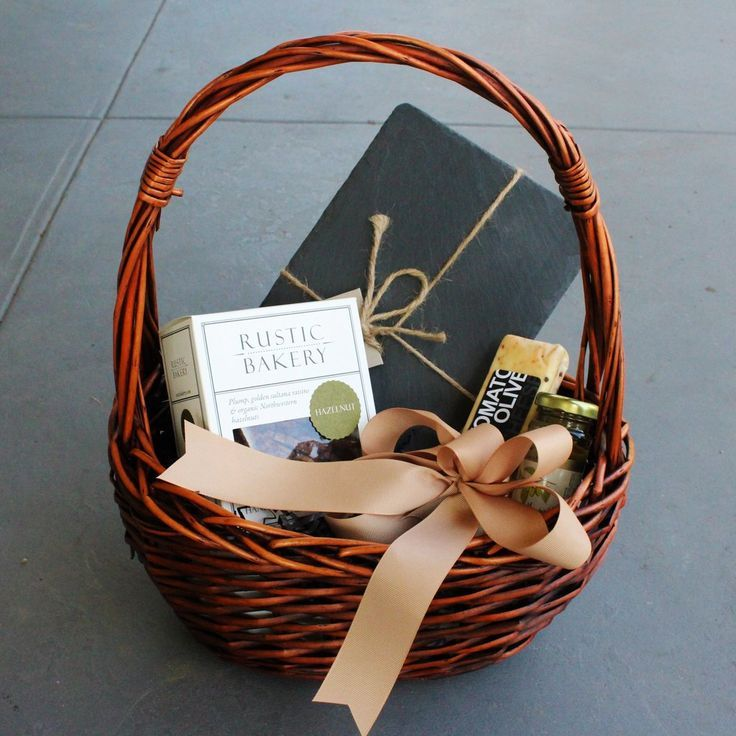 Gift Baskets - Basket Cheese Slate Gift | Nifty Package Co. is a corporate gift ...