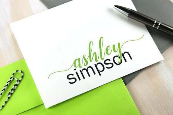 Personalized Stationery Set of 10, Girls Stationery, Bridesmaid Gift, Corporate ...
