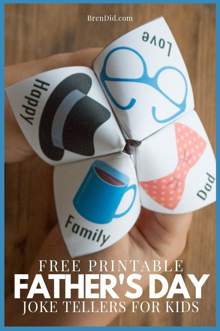 Free Father's Day printable for kids! Father's Day joke teller (fortune tell...