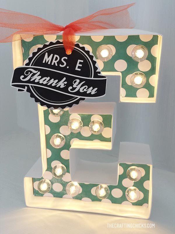 Heidi Swapp Marquee Letter - Great Teacher Gift Idea!