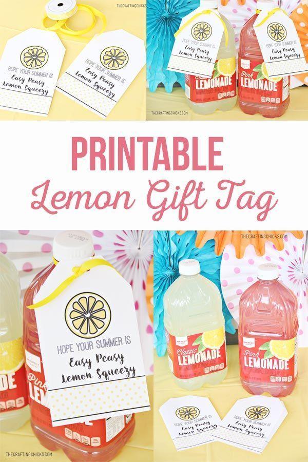 Lemon Gift Tag for Summer for a Summer gift! Add this Lemon Gift Tag for Summer ...
