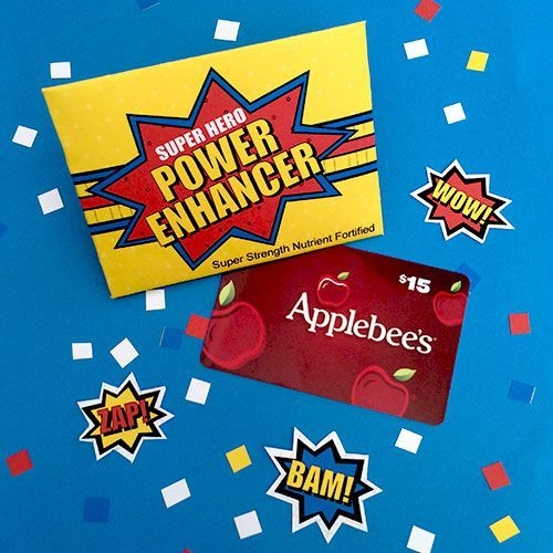 Super Hero Gift Card Printable by Jen Goode. The perfect little holder for the g...
