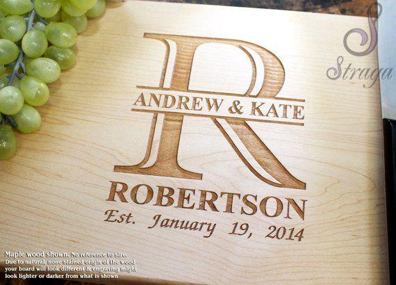 Personalized Engraved Cutting Board- Wedding Gift, Anniversary Gifts, Housewarmi...