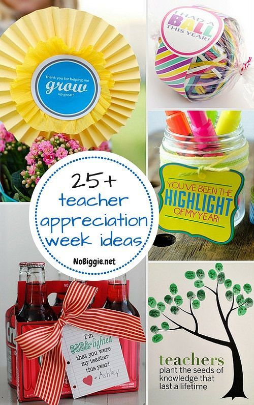 25+ teacher appreciation week ideas - NoBiggie.net #teacher #gift
