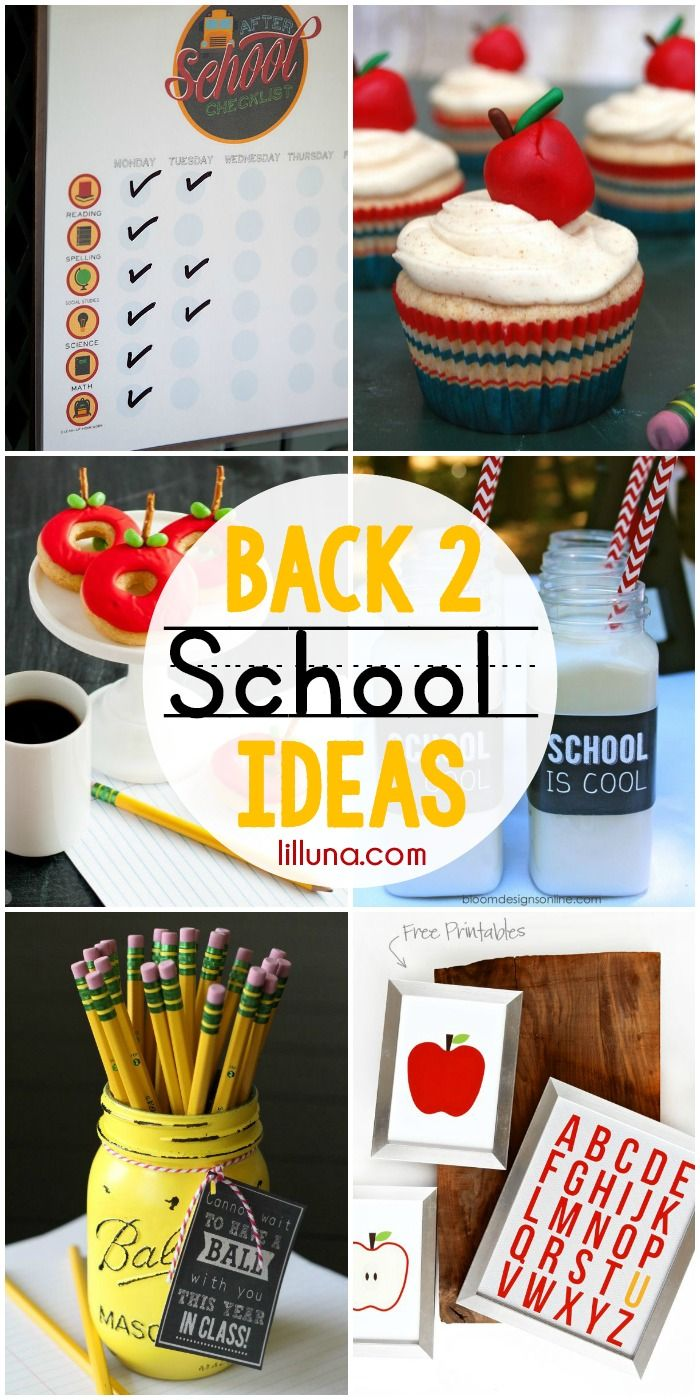 Back 2 School Ideas - includes teacher gifts, printables, and treats!! Check it ...