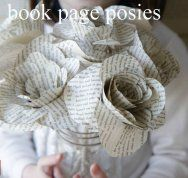 Book Page Flower Bouquet Teacher Appreciation Gift by Mom advice