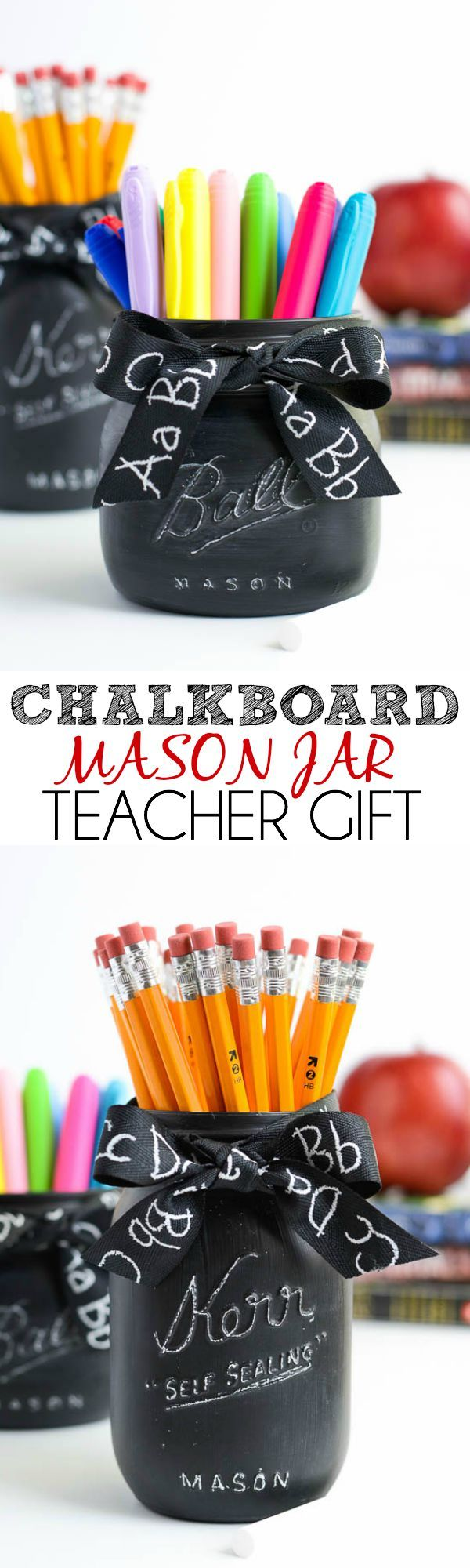 Chalkboard Mason Jar Teacher Gift
