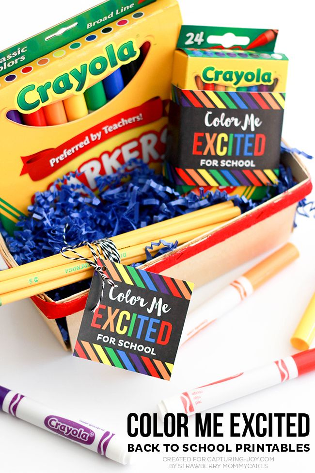 Color Me Excited Back to School Printables #print #school