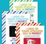 Free Printable Teacher Appreciation Cards by Chickabug