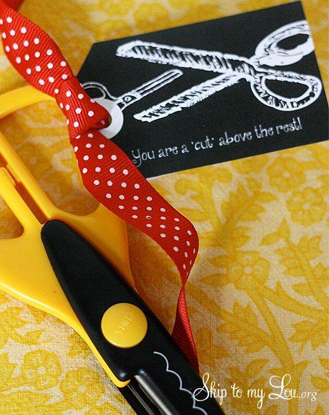 Free printable gift tag: