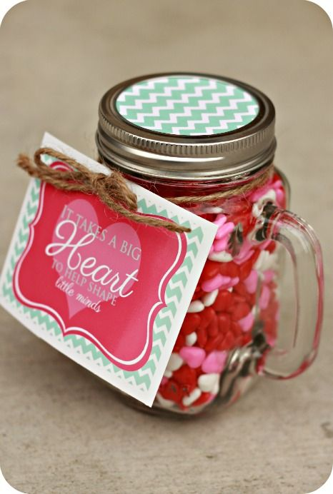 Free printable tag: It takes a BIG Heart to help shape little minds. Great gift ...