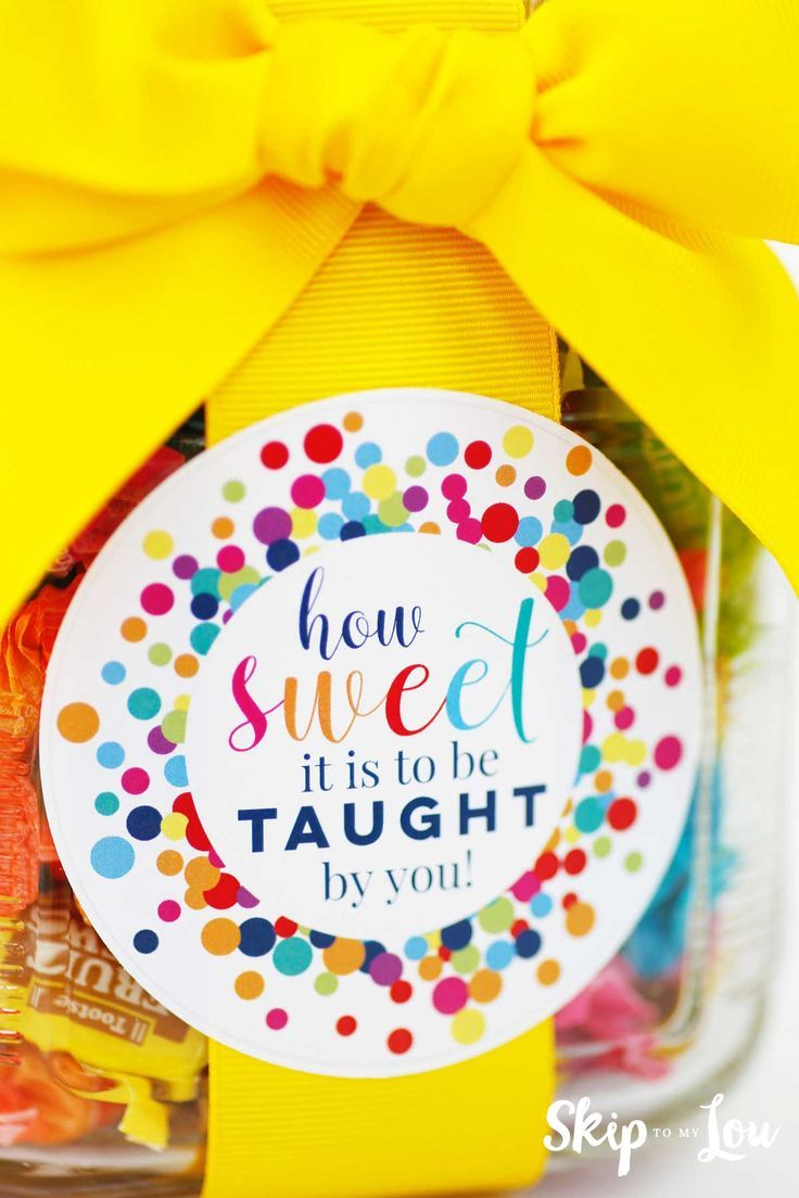 How sweet it is to be taught by you free printable gift tag. Perfect easy teache...