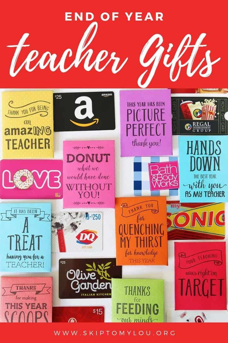 If you need some end-of-the-year teacher gift ideas, I have the cutest printable...