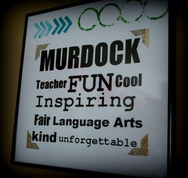 DIY subway art idea for teacher appreciation from Kim Demmon from Today's cr...