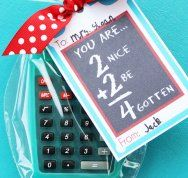 Personalized Calculator with free printable {Teacher Appreciation}