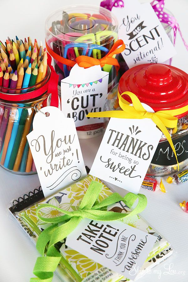 Printable Teacher Appreciation Gift Tags #backtoschool skiptomylou.org