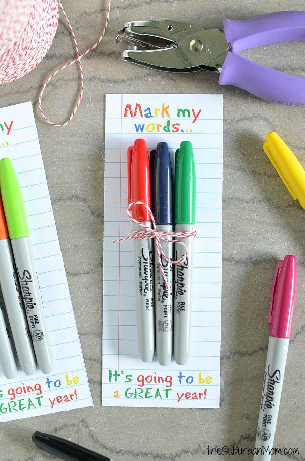 Sharpie Teachers Gift Idea