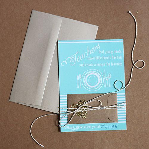 Teacher Appreciation Gift Card Printable | Skip To My Lou #teacher #gift #idea