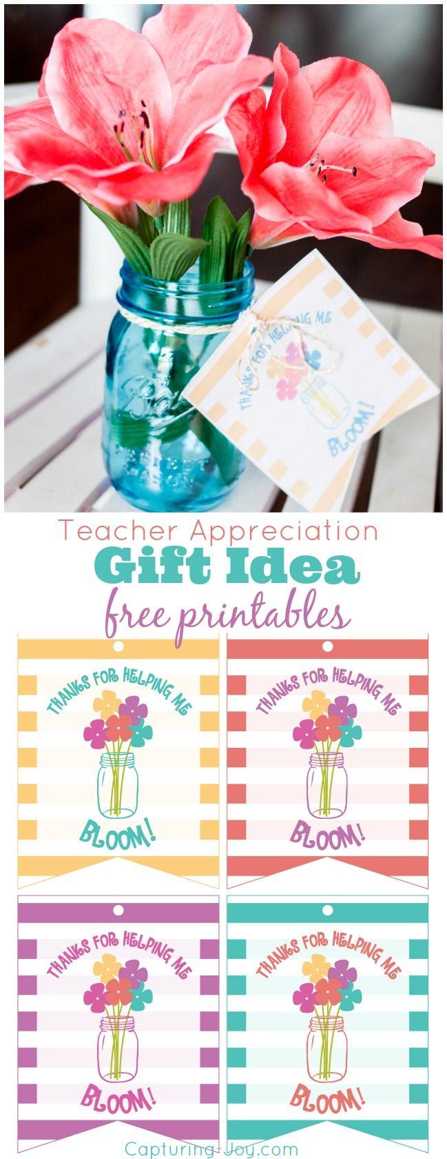 Teacher Appreciation Gift Idea Free Printables #teacher #gift