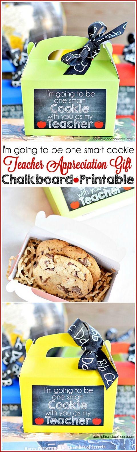 Teacher Appreciation Gift Printable - Smart Cookie Gift