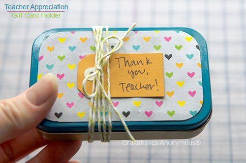Teacher Gift Card Holder by Craftaholics Anonymous   Skip To My Lou #teacher #ap...