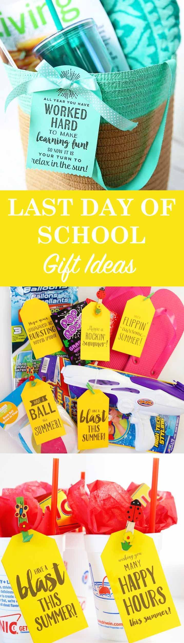 The best gift ideas for the end of school! Easy ideas for your kids, teachers, a...