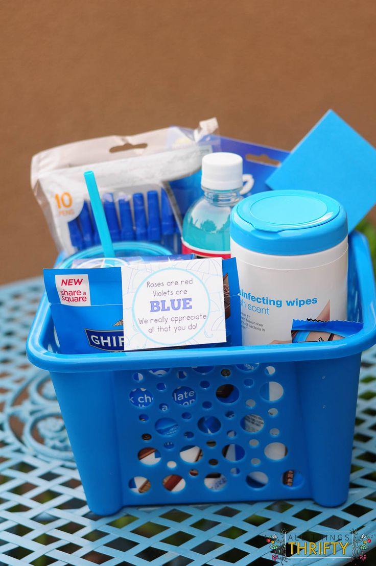 Violets are Blue + Free  Teacher Appreciation Printable #teacher #gift #idea