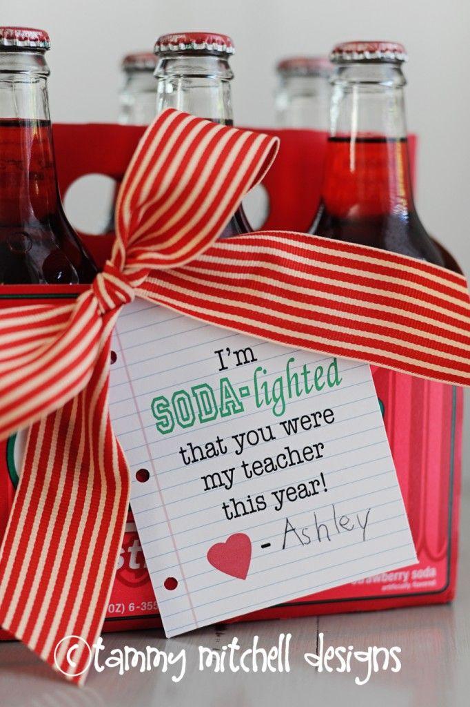 cute soda gift for a teacher